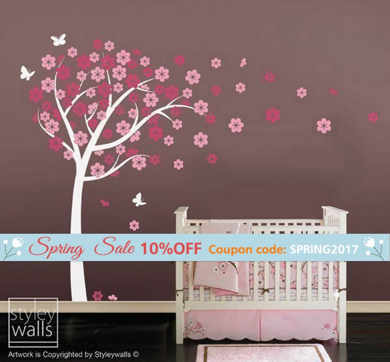 Cherry Blossom Baum Wand Aufkleber Vinyl Kunst Kinderzimmer