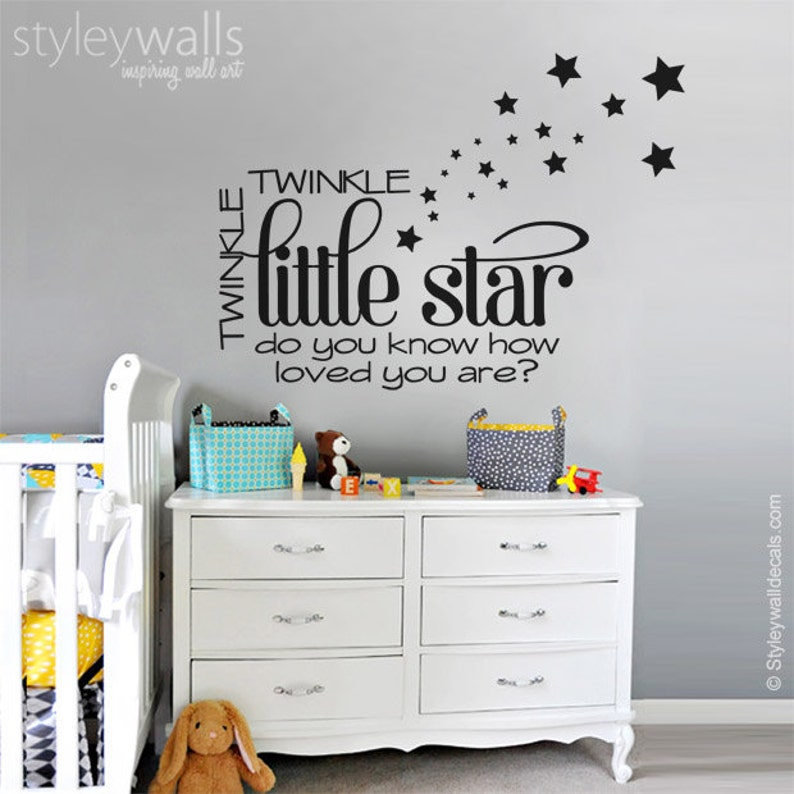 stars wall decal twinkle twinkle little star wall decal | etsy