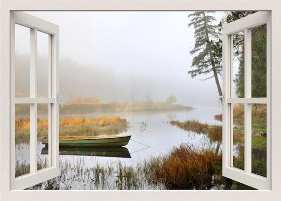 See Wand Wandtattoo 3d Fenster Fenster Aussicht Wand | Etsy