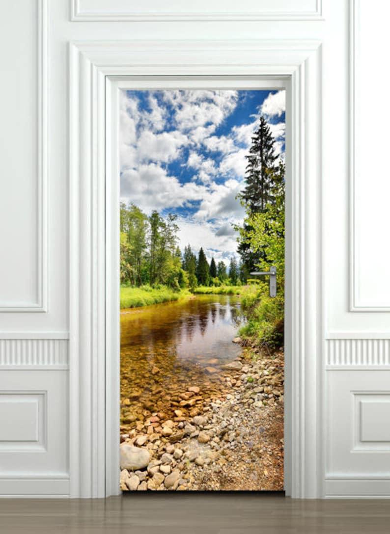 Carta Da Parati Per Porte.Natura Porta Autoadesivo Porta Carta Da Parati Porta Murale Etsy