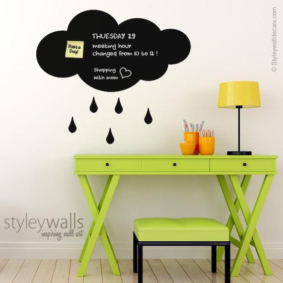 Regen Sie Wolke Wandtattoo Wandtattoo Wolke Tafel Wolke Etsy