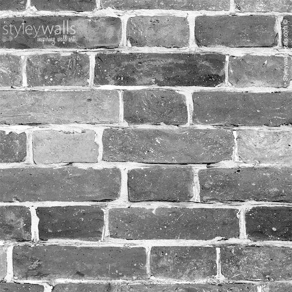 Bricks Wallpaper Black White Gray Brick Pattern Wallpaper Vintage Bricks Self Adhesive Repositionable Peel And Stick Removable Fabric