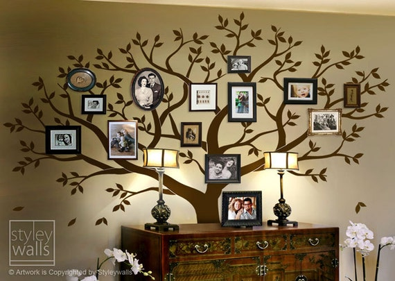 Frame Tree Wall Decal Family Tree Wall Decal Photo Frame Etsy