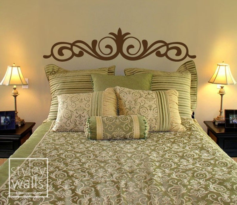 Bed Head Wall Decal Bed Headboard For Bedroom Decor Bedroom Decor Wall Decals Stickers Pinstriping Bed Headboard Vinyl Wall Decal