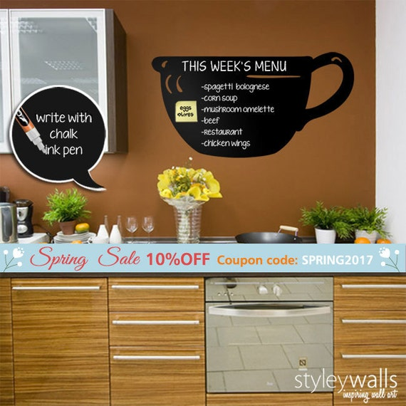 kitchen chalkboard wall decal chalk board food menu wall etsy rh etsy com kitchen sink deals 1200mm composite I Refuse to Sink Infinity Template