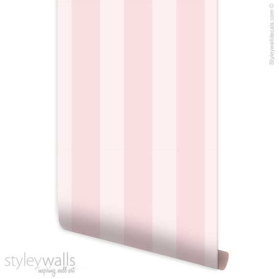 Pink Stripes Wallpaper Vertical Striped Pattern Wallpaper Kids Room Decor Self Adhesive Peel and Stick Repositionable Removable Fabric