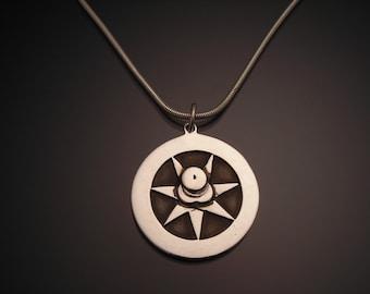 Sterling Silver Septagram Therion Star Pendant