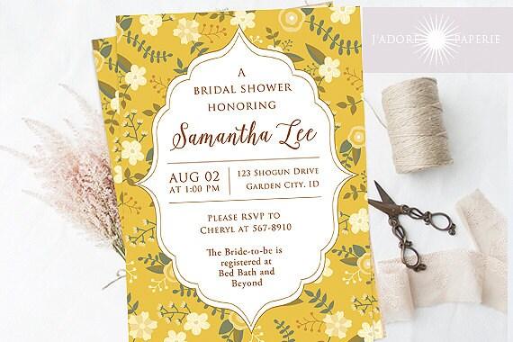 Vintage bridal shower invite printable shower invitation etsy image 0 filmwisefo
