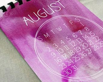 2018 Watercolor Calendar - Desk Calendar, Comb Bound, Wall Calendar, or Single Pages