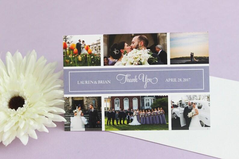 Wedding Photo Collage DEPOSIT Thank You Card