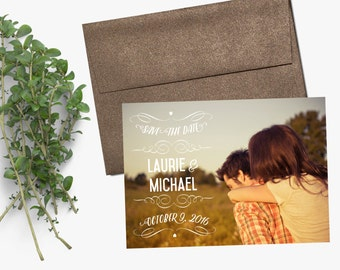 Photo Save the Date - Card Stock or Magnet - DEPOSIT
