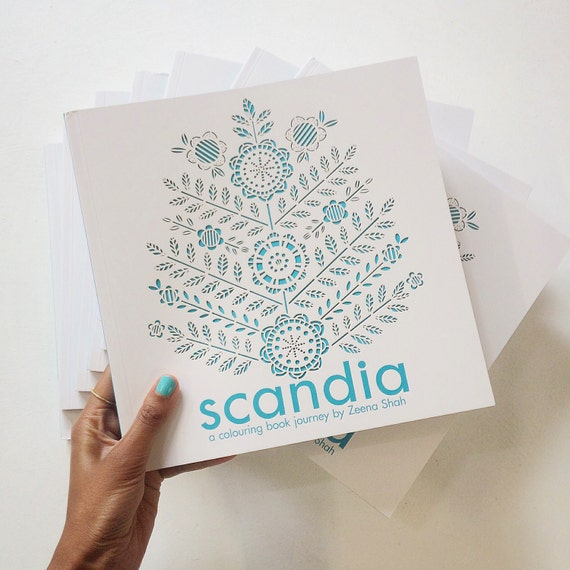 Scandia A Colouring Book Journey By Zeena Shah
