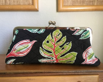 Vintage fabric clutch purse