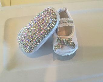 53b65e9e9 Swarovski Crystal Baby Shoes