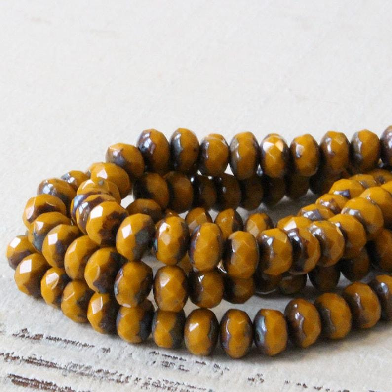 3x5mm Czech Rondelle Beads  Czech Glass Beads For Jewelry image 0