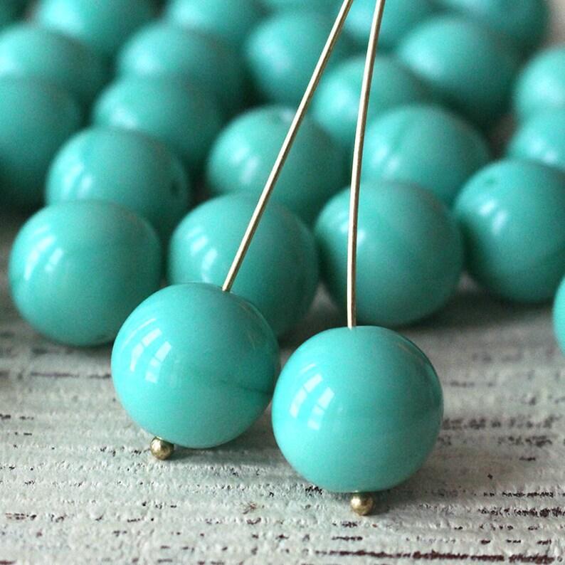 14mm Long Tube Czech Glass Beads 20 Choose Color