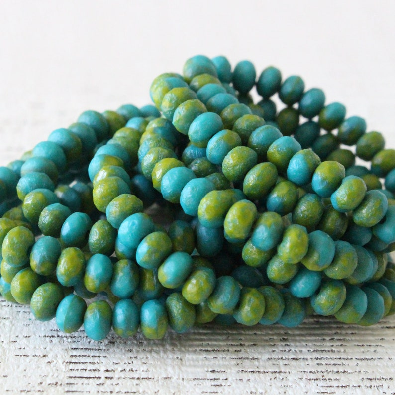 3x5mm Czech Rondelle Beads For Jewelry Making Supply  Czech image 0