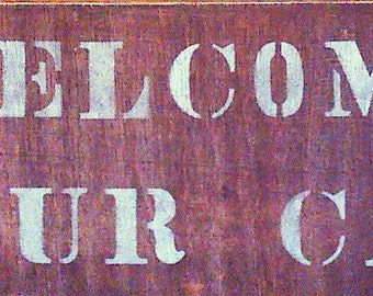Cabin Sign, Welcome Sign, Welcome To Our Cabin Sign, Home Decor, Wall Hanging, Country Sign, Primitive Sign, Welcome, Cabin
