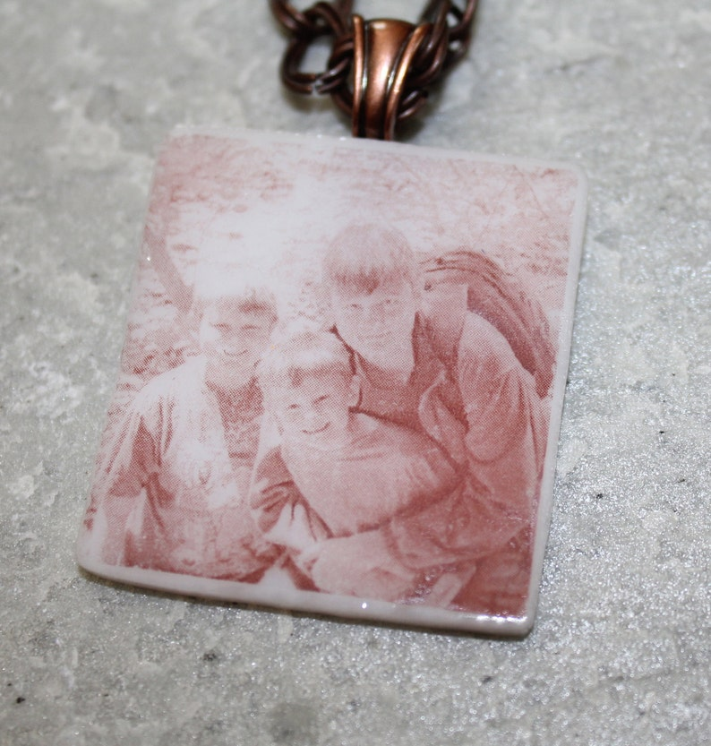 Keepsake Pendant.  Custom Photo on a Glass Pendant  You image 0