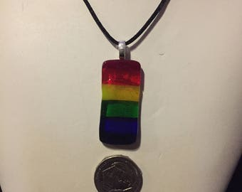 Rainbow, Prism and LGBTQ Flag Necklace