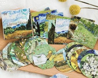 45 PCS, Van Gogh stickers, Painting sticker, Oil Painting sticker, Artist sticker, Impressionist, Vincent Van Gogh, Lifelog 39