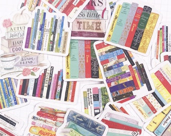 18 PCS, Book sticker, Bookworm sticker, School sticker, Book stickers, Teacher sticker, Math sticker, Reading sticker, Yellow Book, SK 20