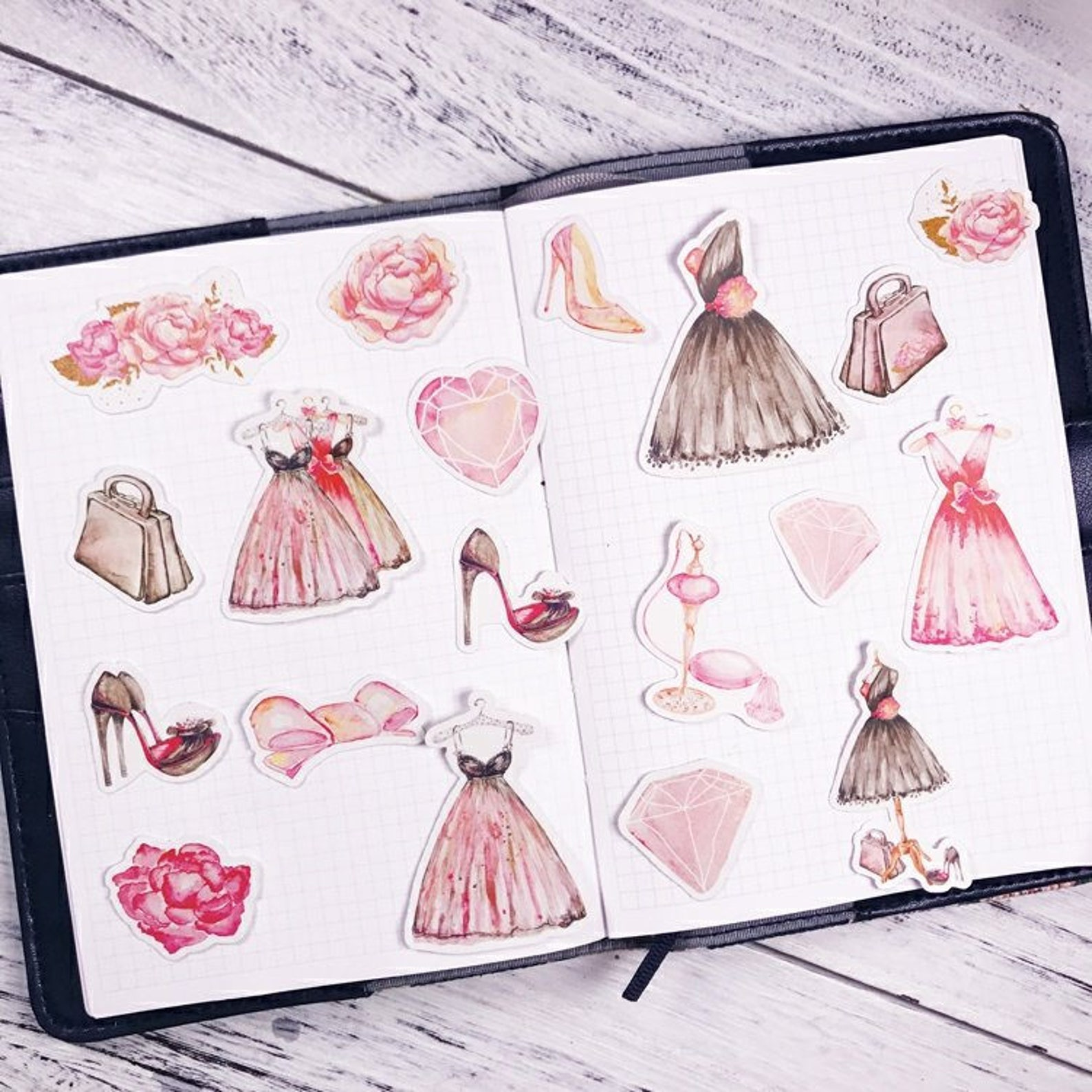 19 pcs, ballet sticker, ballerina sticker, swan sticker, shoe sticker, rose sticker, fairytale, swan lake sticker, swan lake, sk
