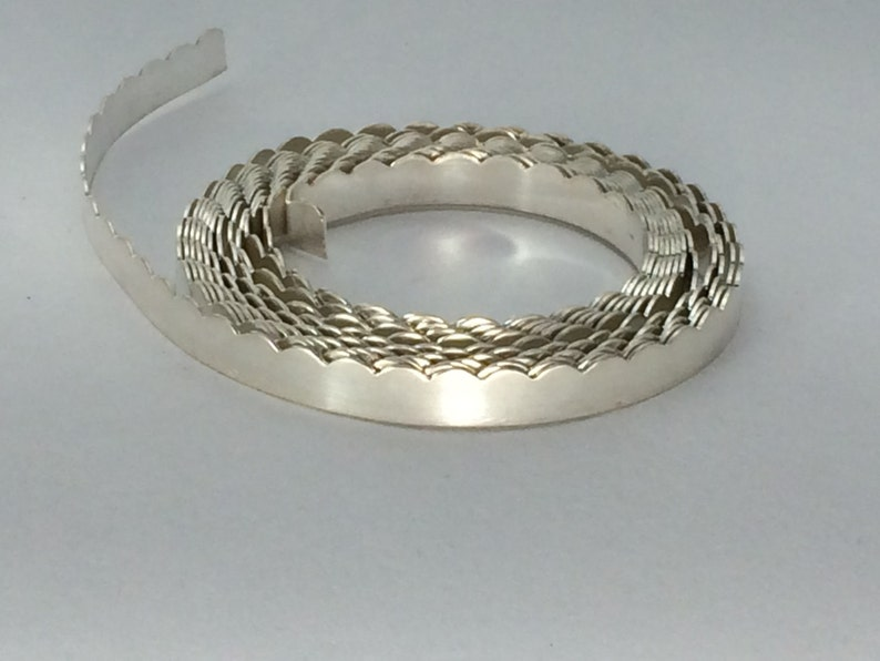gallery wire craft supply .999 silver scalloped bezel wire 1 ozt- 26g stone setting jewelry making