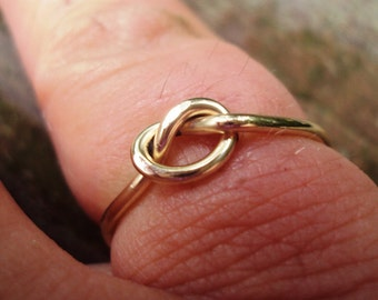 14g, 14kt gold fill, single knot ring, gold knot ring, rose gold available too