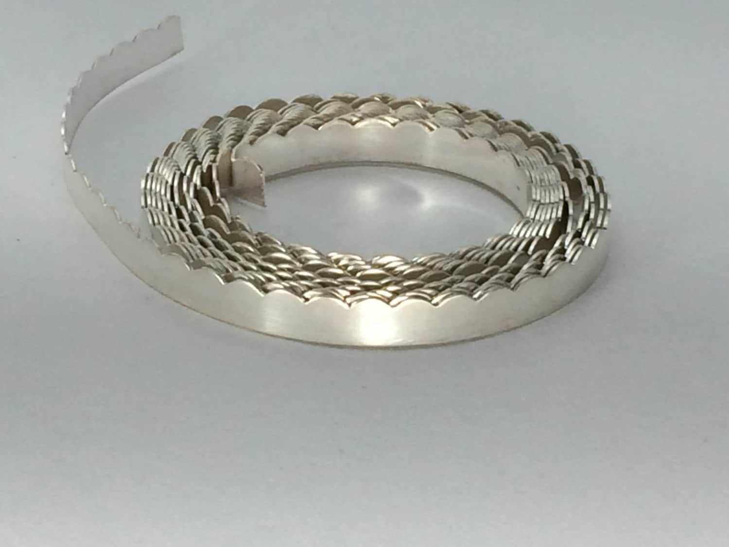 1 ozt- 26g, .999 silver scalloped bezel wire, gallery wire, stone ...