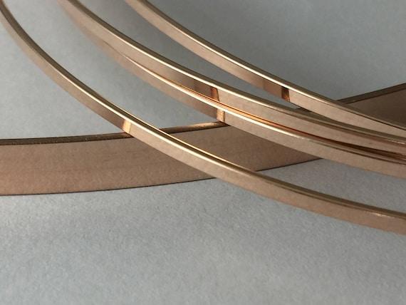 14 k ROSE Gold füllen flache Lager Flachdraht rose | Etsy