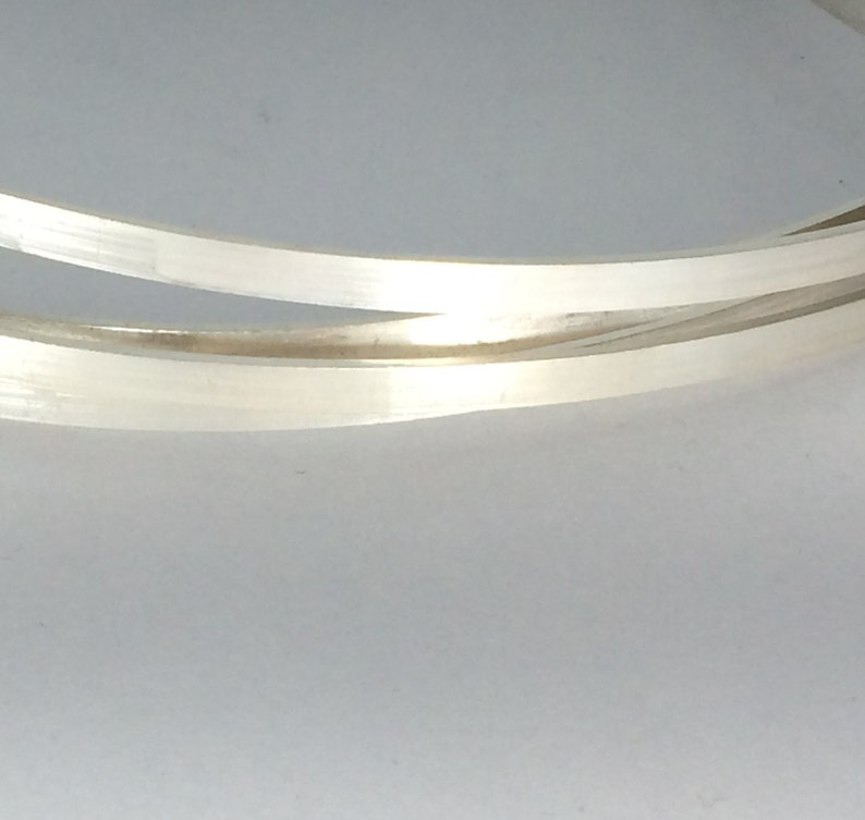 12 inches sterling silver 4mm x 1mm flat rectangle wire stock dead soft wire great for wider band rings
