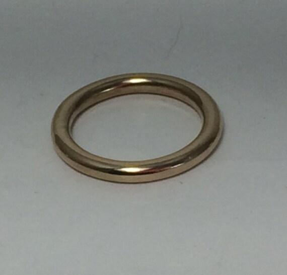 14k Yellow Gold 2.5mm Plain Stacking Ring