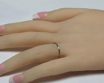 Platinum band, platinum ring, skinny band, thin platinum ring, 950 platinum, halo ring, special pricing limited time