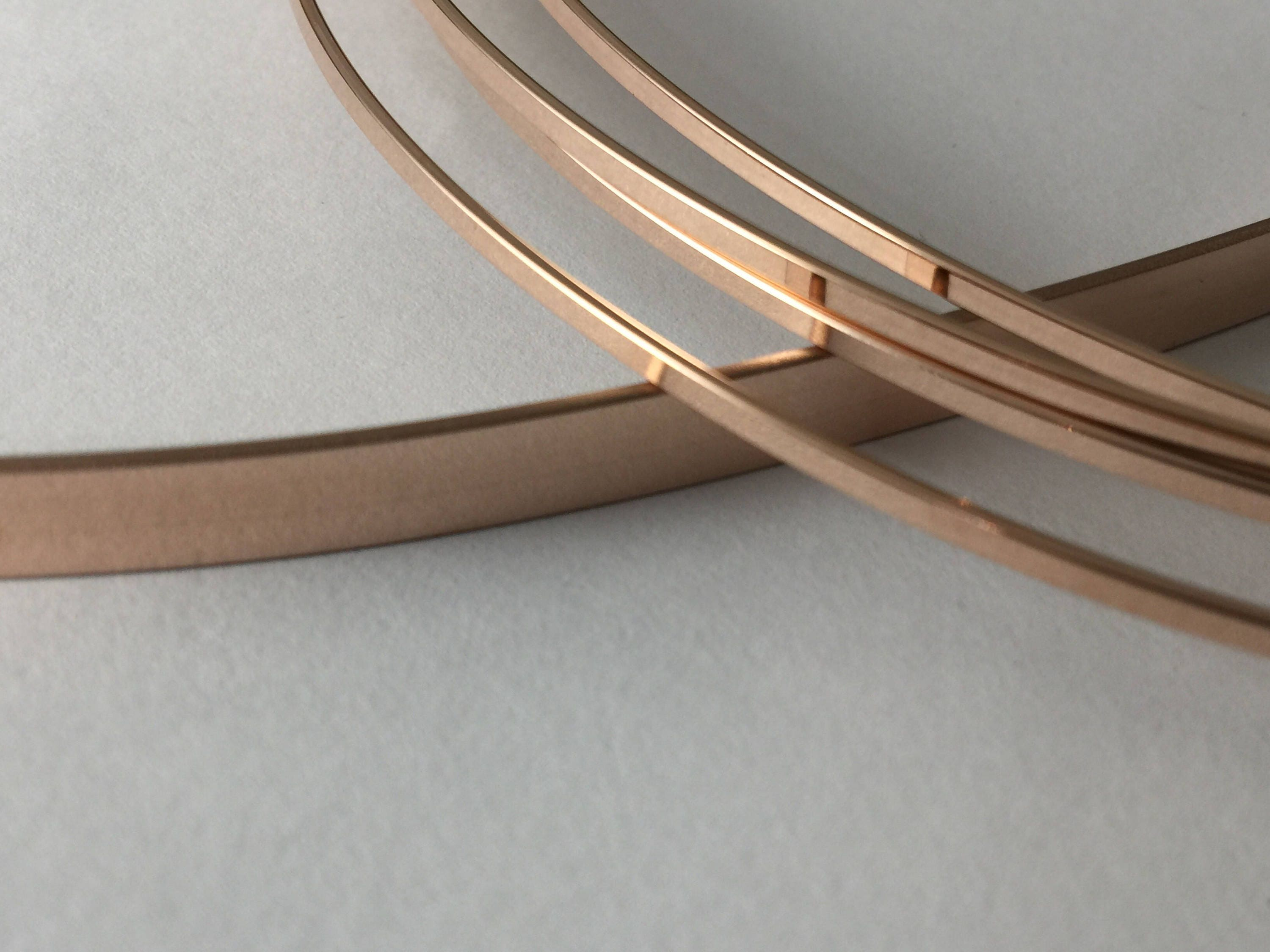 14kt ROSE gold fill flat stock, flat wire, rose gold rectangle wire ...