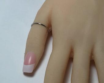 Platinum band, platinum ring, skinny band, thin platinum ring, 950 platinum, halo ring, 1.3mm