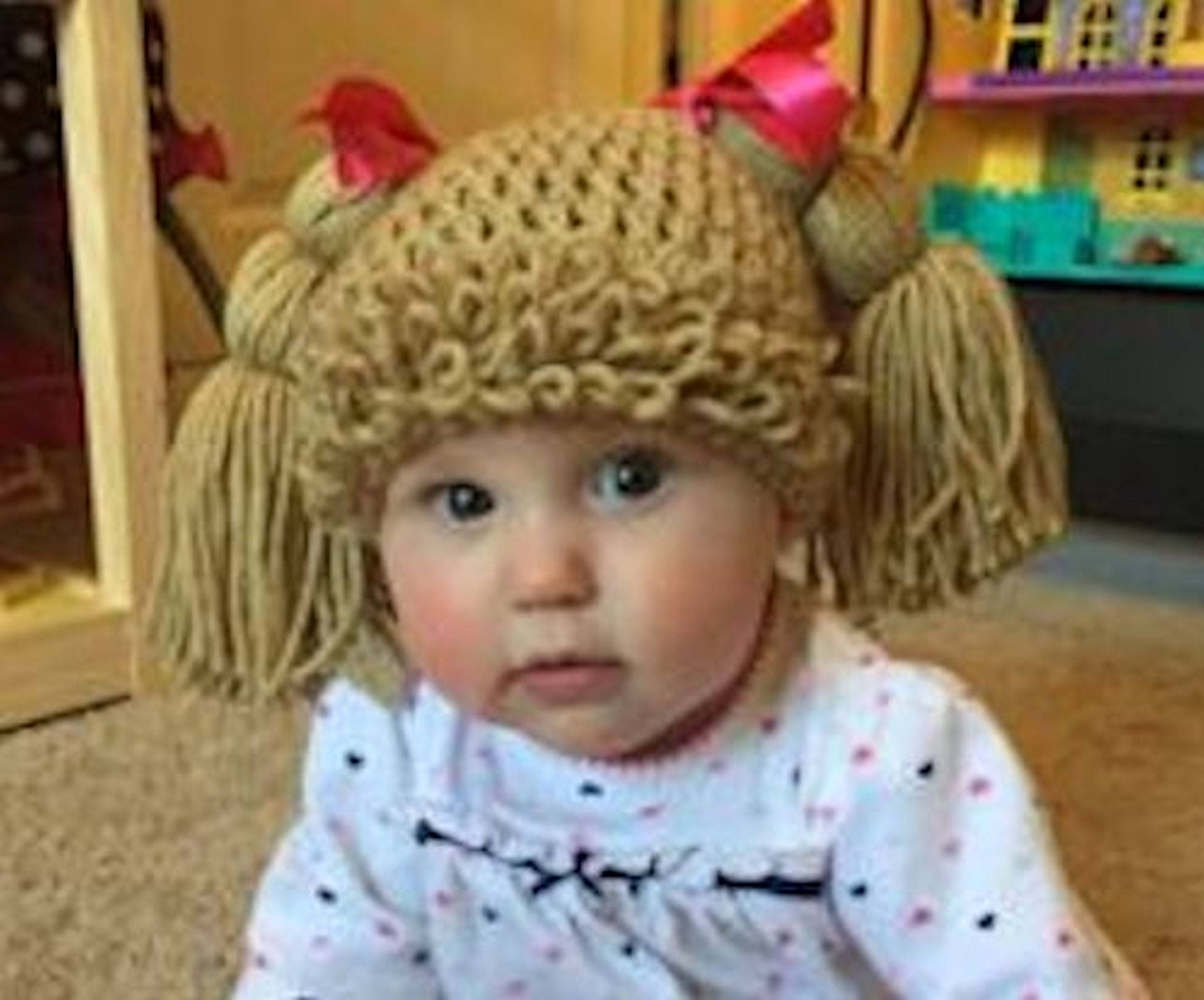 made to fit all sizes Cabbage Patch Hair Wig//Hat