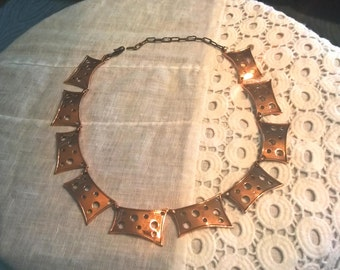 Renoir copper Swiss Cheese necklace