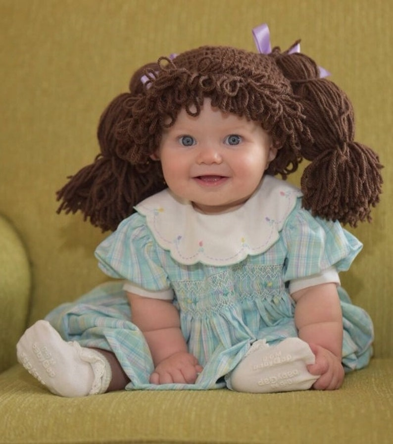 3ae7e52e5f8 Cabbage Patch Kids Inspired Hat Wig Available in 7 sizes