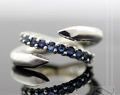 Tough As Nails - Sapphire Anniversary Band in sterling Silver