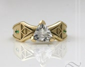 Link to the Future - 14k Zelda Engagement Ring ~ Sun Edition Diamond or Sapphire in yellow gold