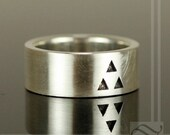 It's Dangerous to Go Alone - Triforce Wedding Band Geeky Retro Style