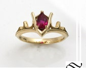 Goron's Ruby - Legend of Zelda Geeky Engagement Ring - 14k yellow or white gold