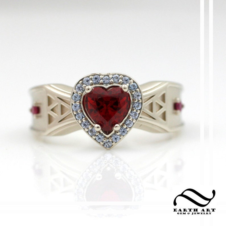 Heart Container Zelda Engagement Ring  Ocarina of time game image 0