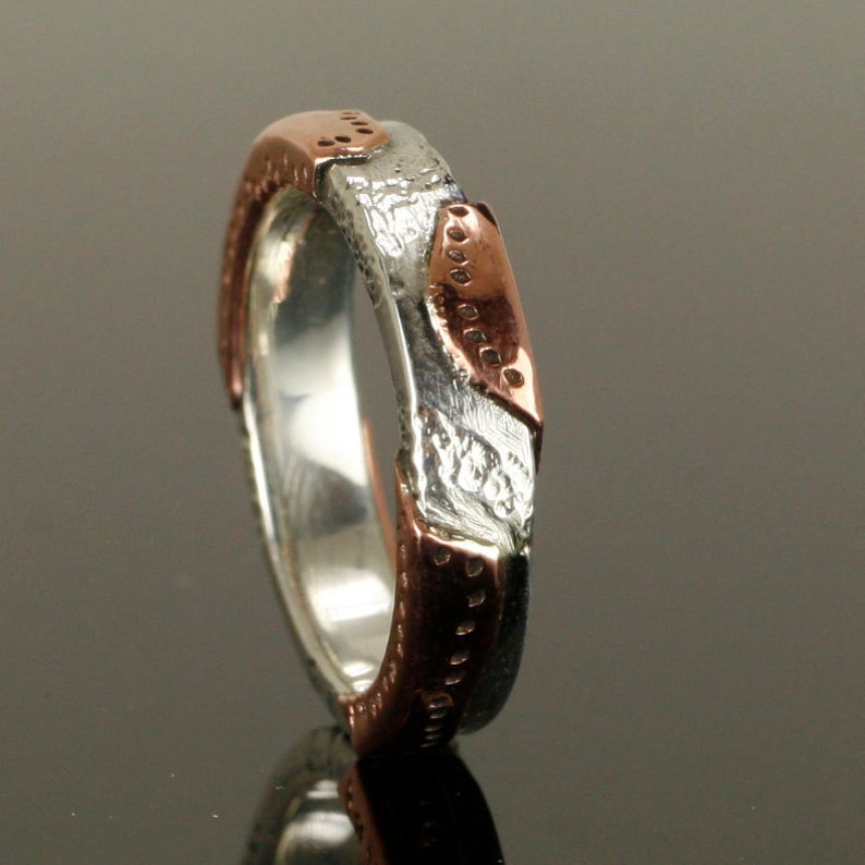 A Rawhide design with Copper and Sterling Silver The Cowgirl Wedding Band