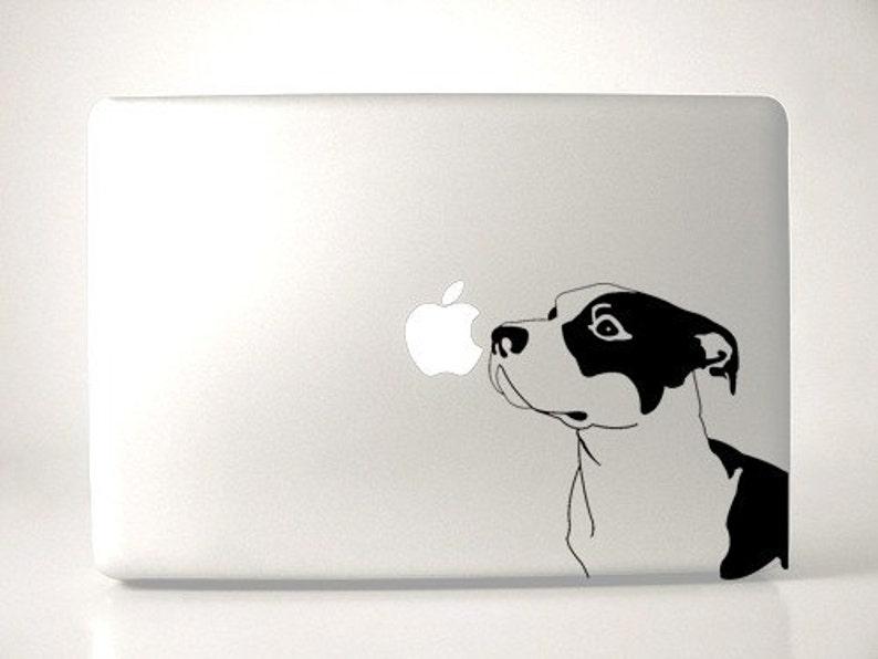 Pitbull Decal Macbook Apple Laptop image 0