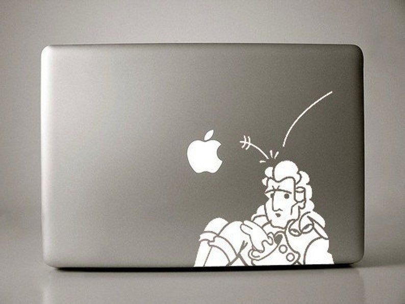Isaac Newton Gravity Decal Macbook Laptop image 0