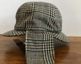 60504542afc vtg Holmes Deerstalker tweed hat