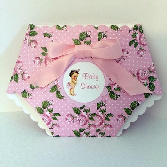 Pink diaper baby shower invitation diaper shaped invitation die il570xn filmwisefo