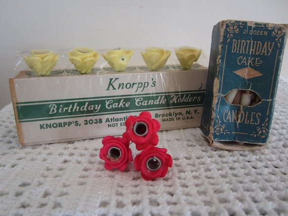 Vintage Birthday Cake Flower Candle Holders by Knorpp's | Etsy